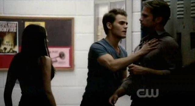 The Vampire Diaries 3x06 Stefan slams Alaric