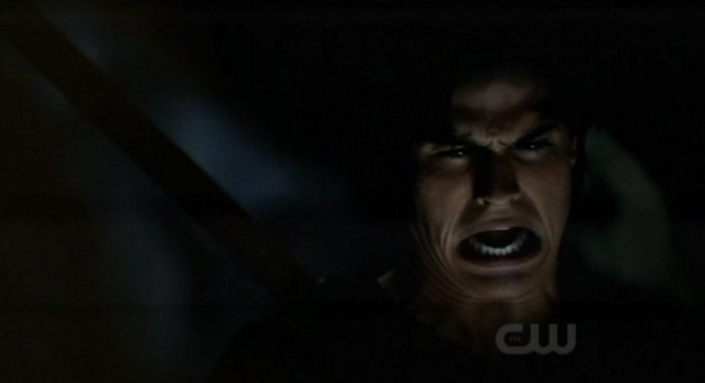 The Vampire Diaries 3x07 Damon gets stabbed by the cave