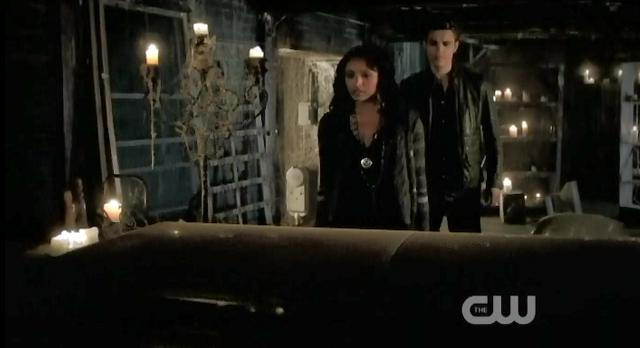 The Vampire Diaries S3 x 10 Bonnie and Stefan by coffin