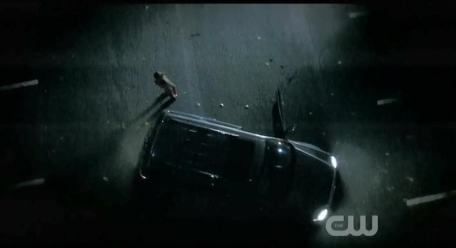 The Vampire Diaries S3x14 Elena hits something in road