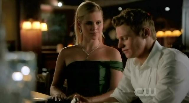 The Vampire Diaries S3x14 Matt at grill with Rebekah