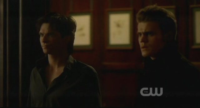 The Vampire Diaries S3x15 - Damon and Stefan are surprised by Elijah