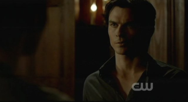 The Vampire Diaries S3x15 - Damon give Stefan a serious look