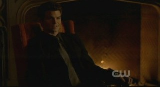The Vampire Diaries S3x15 - Elijahs grin tells the story of his plan to stop Esther