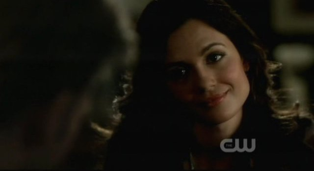 The Vampire Diaries S3x15 - Meredith smiles at  Alaric