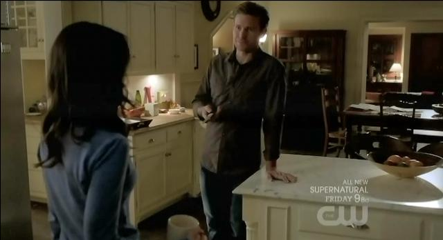 The Vampire Diaries S03x17 Alaric holding knife