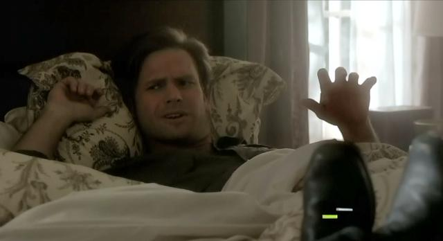 The Vampire Diaries S03x17 Alaric waking chained to bed