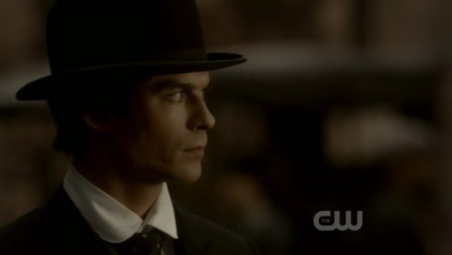 The Vampire Diaries 3x16 - Damon looks at nowhere back in 1912