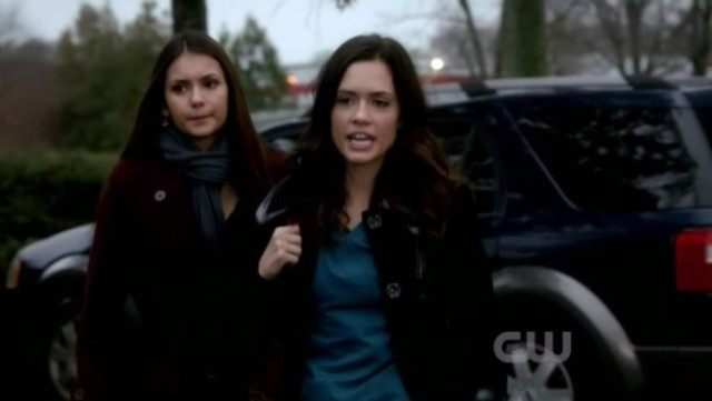 The Vampire Diaries 3x16 - Elena's disagreeing face towards Meredith Fell