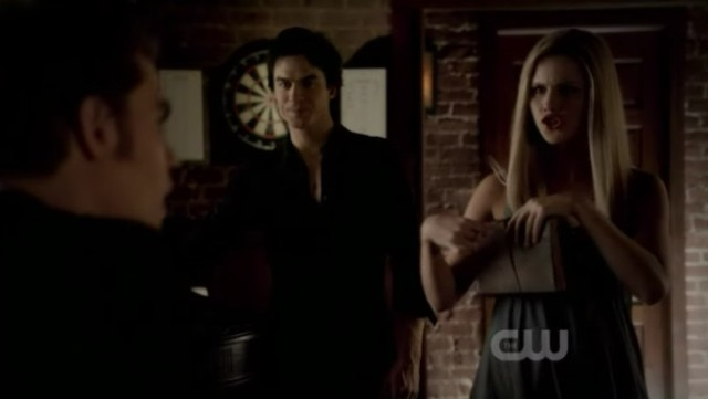 The Vampire Diaries 3x16 - Rebekah after reading Stefan's diary and mockery