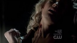 The Vampire Diaries 3x16 - a girl Damon and Rebekah forced Stefan to feed on