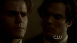 The Vampire Diaries 3x16 - Damon and Stefan talking back in 1912