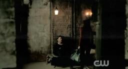 The Vampire Diaries S3x19 Alaric and Elena in cellar