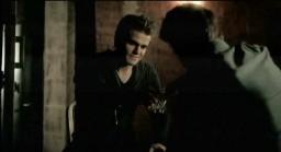 The Vampire Diaries S3x19 Stefan visiting Alaric in the cellar