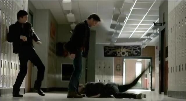 The Vampire Diaries S3x21 Alaric throwing Stefan