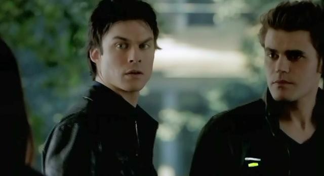 The Vampire Diaries S3x21 Stefan and Damon bringing Elena home