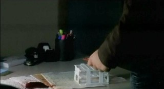 The Vampire Diaries S3x22 Alaric spilling Dr. Merediths vampire blood stash