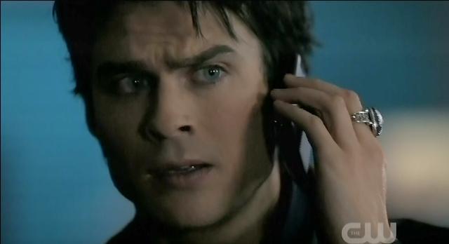 The Vampire Diaries S3x22 Damon on the phone with Elena