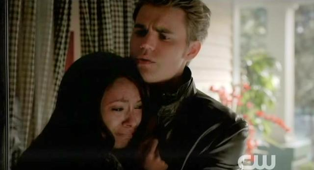 The Vampire Diaries S4 x 2 Stefan comforting Bonnie