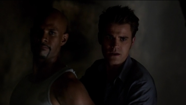 The Vampire Diaries S4x05 - Stefan escaping with Conner but embushed by Damon