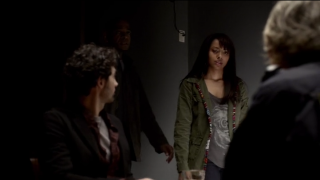 The Vampire Diaries S4x11 - Shane, Bonnie and Liz at the interrogation room