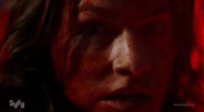 Van Helsing S1x01 Vanessa has an immunity to vampires and heals quickly