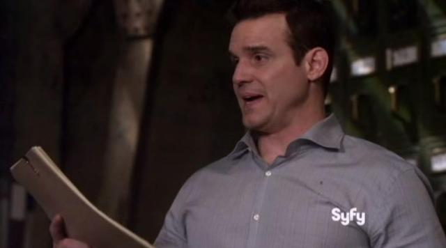 Warehouse 13 S4x11 Pete has nothing but paper