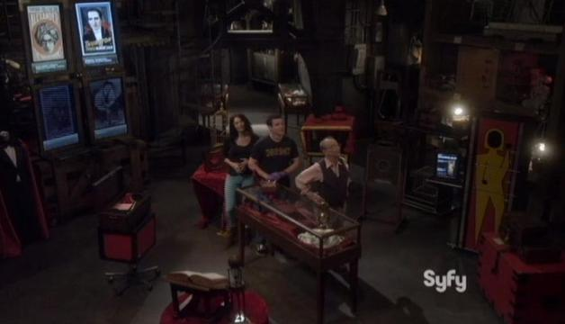 Warehouse 13 S4x14 Monty visits the Warehouse