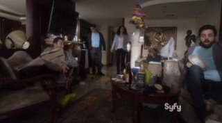 Warehouse 13 S4x14 Myka and Pete wake up the drunks