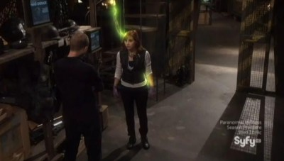 Warehouse 13 S4x15 Claudia zapped times 3
