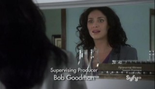 Warehouse 13 S4x15 Myka in the lab HG and Pete
