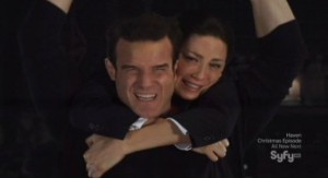 Warehouse 13 S3x13 - Pete and Myka take a ride the warehouse
