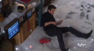 Warehouse 13 S3x13 - Pete takes a fall