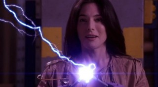 Warehouse 13 S4x01 - HG Wells portrayed by Jaime Murray saves our heroes