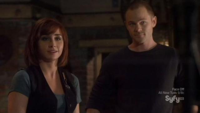 Warehouse 13 S4X07 Claudia and Steve 2