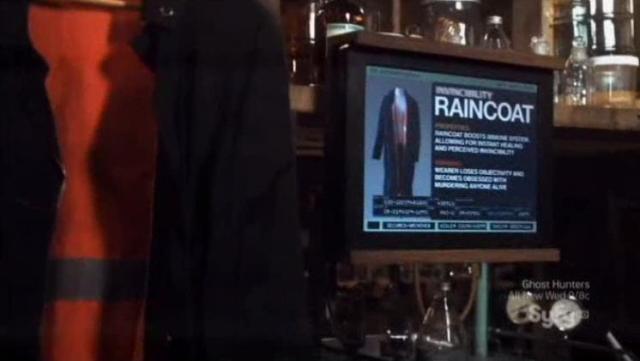 Warehouse 13 S4X07 Rain coat