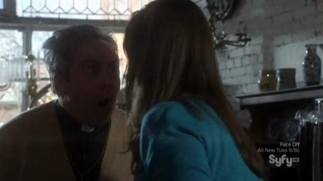 Warehouse 13 S4x06 Kristen knocks Priest out