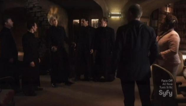 Warehouse 13 S4x09  Brother Adrian library