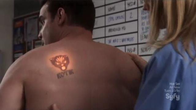 Warehouse 13 S4x09 Pete Tat on Back