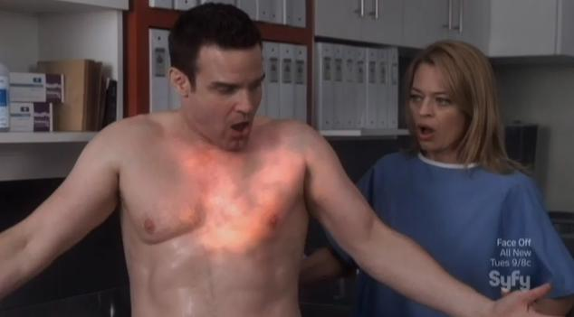 Warehouse 13 S4x09 Pete glowing tattoo