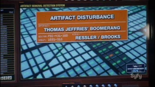 Warehouse 13 S4x09 Thomas Jeffries Boomerang